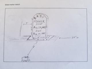 Baby Fenner grave marker image
