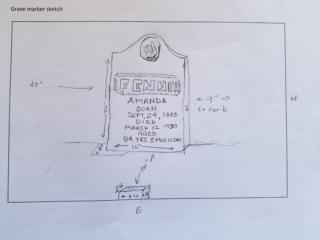 Amanda Fenner grave marker image