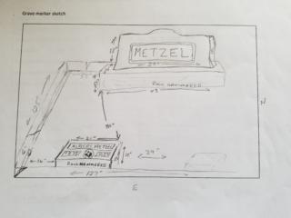 Albert Metzel grave marker image