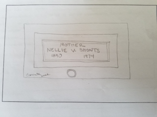 Nellie V. Shonts grave marker image