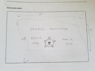 Charles Rosemond grave marker image