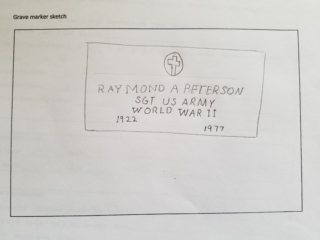 Raymond A. Peterson grave marker image