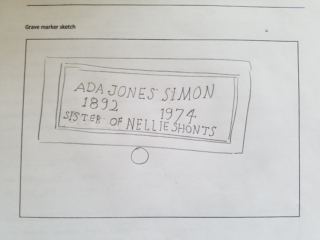 Ada Jones Simon grave marker image
